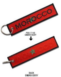 Pantone Color Embroidered Key Tags دائم مطرزة مفتاح فوب
